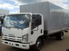Truck Isuzu NQR 90L board platform with...