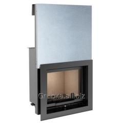 Steel chimney fire chamber with a guillotine