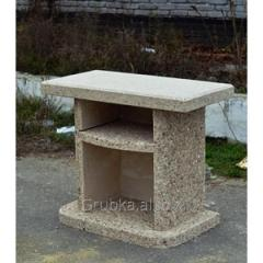 Table added for a garden fireplace - a barbecue