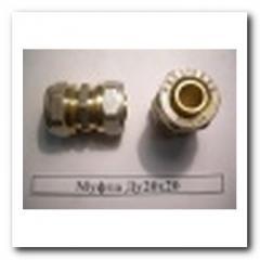 Муфта для металлопластиковой трубы Ду20Х20