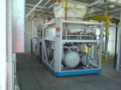 Equipment for the CNG filling station (automobile