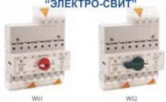 Knife switches the switching PRZK - 1-0-2, 3-4 polyusn. on currents 63, 83, 125, 160A. SPAMEL, Poland. The best prices