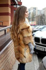 Fur coat from fur of a fox