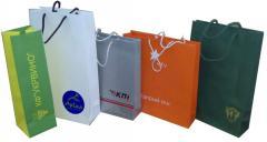 Пакеты бумажные с полиграфией