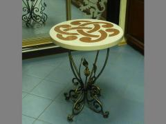 Decorative little table from an artificial stone