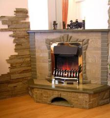 Stone fireplaces in the house