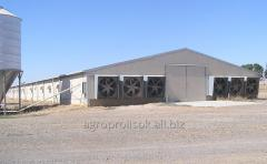 The equipment ventilating for poultry farms