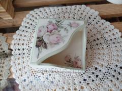 Vintage Roses napkin holder