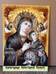 Икона из янтаря Богородица Неустанной Помощи