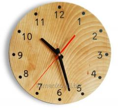 Wall clock from a natural tree