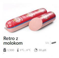 Ковбаса варена Retro z molokom 1,500