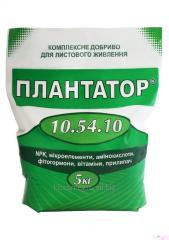 PLANTATOR®10. 54. 10。複雑なミネラル肥料。水溶性の肥料。
