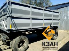 The GKB trailer converted in the dump truck.