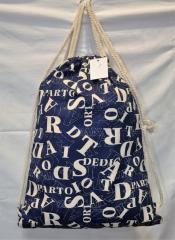 Рюкзак женский 162738 с завязками (буквы)