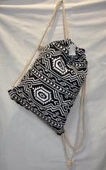 Рюкзак женский 162738 с завязками (черный слон)