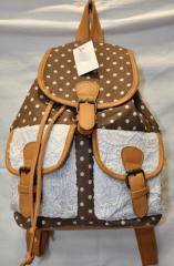 Backpack female 8125 brown