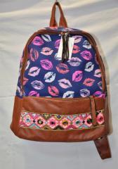 Рюкзак женский W93 (губы)