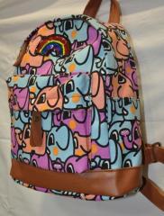 Рюкзак женский (детский) со слонами 21018