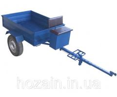 The trailer dump truck with disk brakes under
