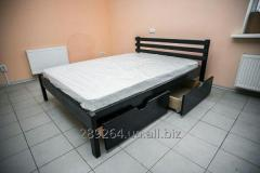 Double bed with boxes