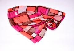 Турецкий шарф коттон-вискоза с цветочным