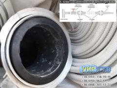 Рукав пожарный диаметром 77 мм по 20м с гайками