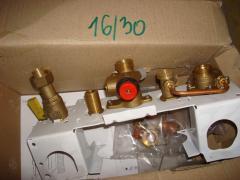 Монтажная рамка под отопление c кранами под газ Azcar