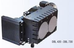 Vacuum pump of the rotor and bladed DBL 730 model