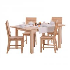 Dining wooden table of GRAVIS folding