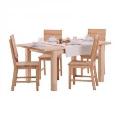 Обеденный деревянный стол ГРАВИС раскладной (бук) 1600+400х900х750