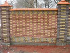 Crushed red brick sided 250 * 120 * 65