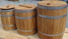 Кадушка бочковая 30л, изделия из дерева, бочка,