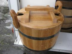 Steamer for a bath of oak 30 l