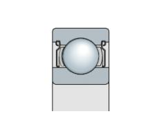 Подшипник однорядный с защитной металлической
