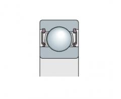 Подшипник однорядный с резиново-металлическим