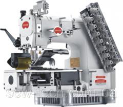 Швейная машина 12-игольная, 24-ниток, двойного цепочного стежка с гладким (или зубчатым) пулером  Bruce VC009VCDI-12064P