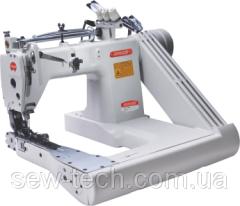 Швейная машина 3-игольная, П-образная платформа с роликом (пулер) для тяжелых материалов Bruce 9280-73-PL