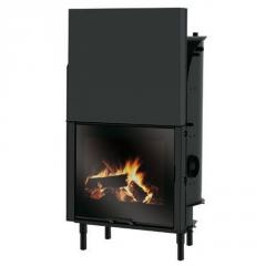 Wood burning fireplace with water jacket Edilkamin H2 Oceano CS 23 (with integrated coil)