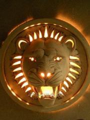 Ceramic Lion lamp