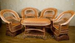 Комплект плетеной мебели из экологически чистого