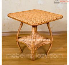 Плетеный стол из лозы из Эко материала