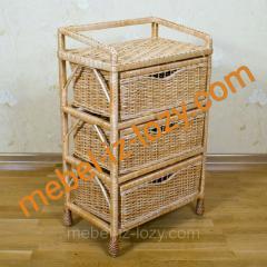 Плетеный комод с выдвижными ящиками