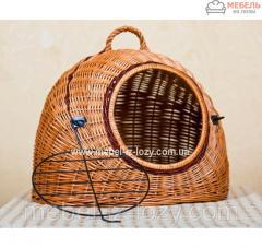 Плетеный домик из лозы для животных