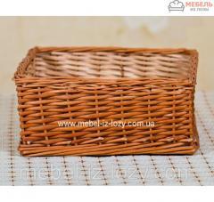 Плетеные лотки из лозы h15-40*40