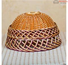 Абажур плетеный из лозы