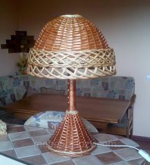 Плетеная настольная лампа