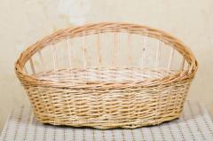 Лежанка плетеная для животных