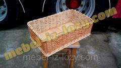 Плетеные лотки - короба для торговых стендов 50х30