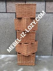 Плетеные лотки для торговых стеллажей 40х40 с
