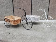 """Кованая подставка для цветов """"Велосипед"""""""
